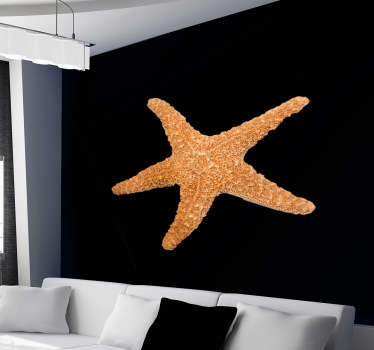 A simple but an original starfish design from our collection of sea wall stickers. If you are a person that loves the sea life then this is for you!