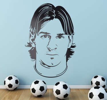 Adesivo murale ritratto Messi