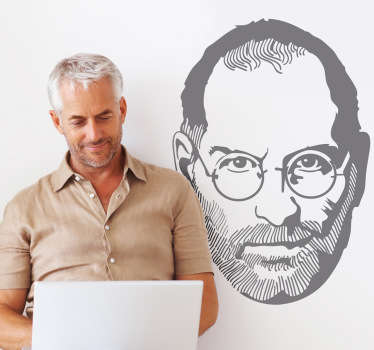 Steve Jobs Illustration Sticker