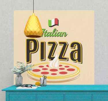 stickers de pays de pizza italienne traditionnelle pour décorer une cuisine et une salle à manger. Autocollant de cuisine italienne