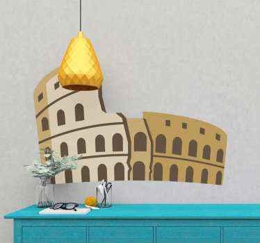 Autocollant de pays colisée italien pour décorer votre maison. Une conception pour les personnes qui aiment les structures de bâtiments anciennes et historiques.