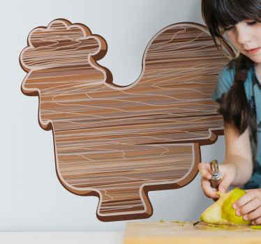 Este vinilo de pájaros con gallo de efecto madera será ideal para decorar tu casa de forma original ¡Descuentos disponibles!