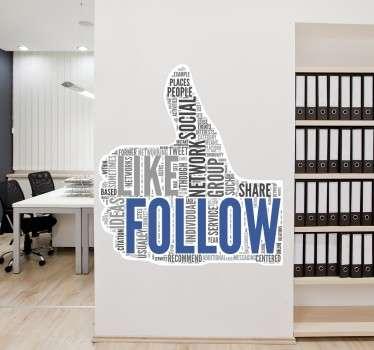 Like follow Aufkleber