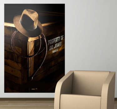 Sticker decorativo poster Indiana Jones