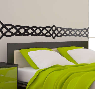 Celtic Bed Headboard Wall Sticker