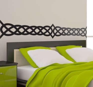 Celtic bed headboard vägg klistermärke