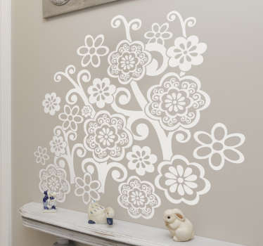 Decals - Distinctive floral design of wild petal flowers. Available in 50 colours and in various sizes. Easy to apply and looks great!