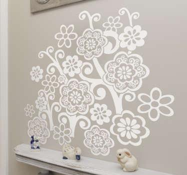 Naklejka dekoracyjna bukiet kwiatów