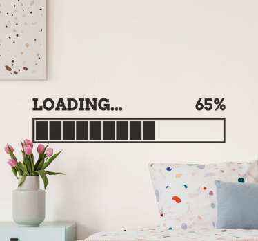Loading percentage video game sticker. You can choose what this loading signal means for you, it can be your game loading, idea loading, thought, etc.