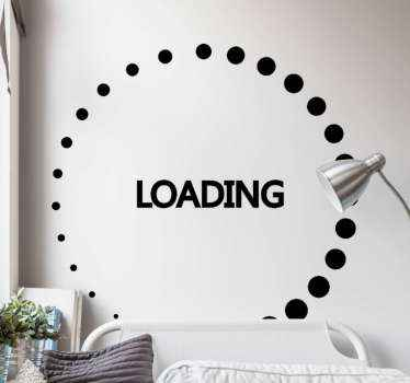 Decorative loading rotation video game sticker for game lovers. Suitable to decorate a game room or bedroom and the colour is customizable.