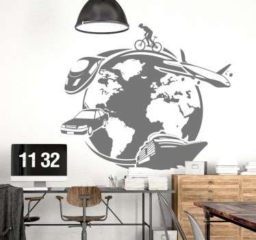 Typgraphic Train Wall Stickers