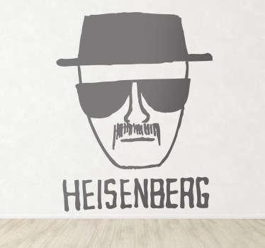 Disegno adesivo del protagonista della famosa serie americana Breaking Bad - Reazioni Collaterali.