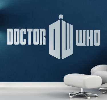 Wall Sticker illustrating the logo from the science fiction Doctor who series. Ideal for their fans!
