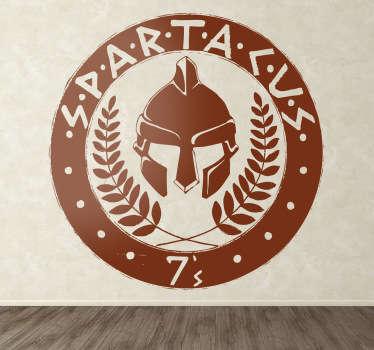 Escudo adhesivo de Espartaco, el esclavo rebelde de la Antigua Roma también serie de TV.