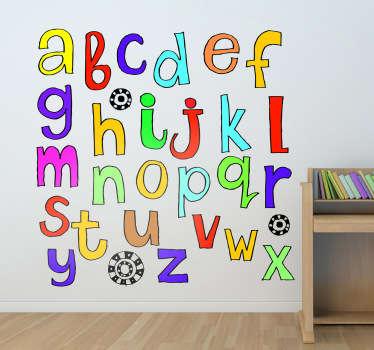 Barn klistremerke alfabetet klistremerke