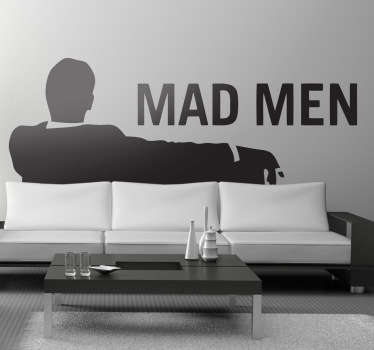 Sticker decorativo logótipo Mad Men