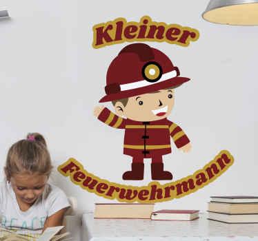Décorez la chambre d'un enfant avec cet adhesif illustrant un petit garçon pompier en uniforme. Il est facile à appliquer et auto-adhésif.