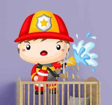 Offrez à vos enfants la jolie décoration murale de pompier de la décennie! Votre enfant adorera ce design unique. Commandez dès maintenant !