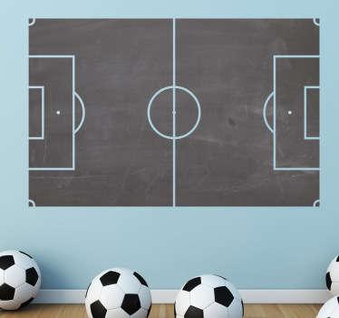 Sticker krijtbord voetbalveld