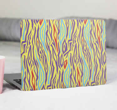 Vintage colorful Zebra animal print laptop skins for your laptop decoration. It is easy to apply and removable. Available for any laptop model.