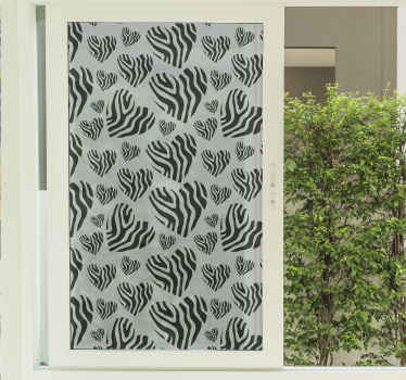 Cover the surface of your window with our decorative animal print decal for window. Great decorative choice for people who love animal prints design.