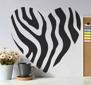 Autocollant d'amour de coeur à imprimé animal zèbre Dans notre collection de stickers à sticker zèbre. Belle conception d'impression animale