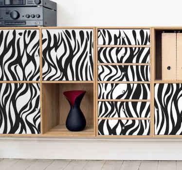 私たちの装飾的なゼブラ家具デカールは、しわや気泡の影響を受けることなく、家具の表面にスムーズかつきれいにフィットします。