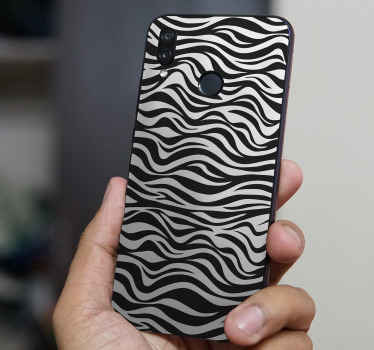 Decorative Zebra background Huawei sticker to wrap the back surface of your phone in zebra beauty. Easy to apply and self adhesive.