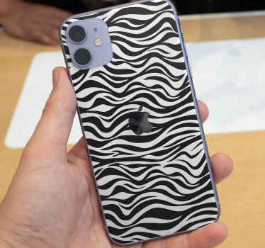 Zebra Background iPhone sticker to wrap the back surface of your iPhone to beautify it in the zebra pattern. Easy to apply, removable and adhesive.