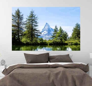 Abbellisci il tuo salotto o il tuo ufficio con questo adesivo da parete natura neve montagna cervino. è facile da applicare e durevole.