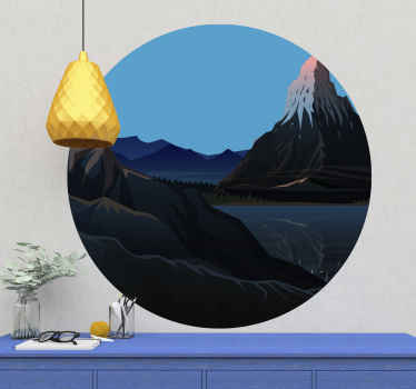 Ge din vägg något unikt med denna snygga pizzo badile mountain sticker! Dekorera din vägg med naturen nu!