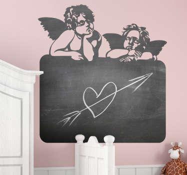 Naklejka tablica małe aniołki
