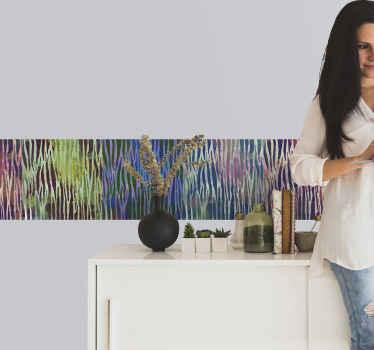 Friso decorativo autocolantede parede de textura zebra abstrata para decoração de quarto, banheiro, cozinha e sala de estar. é original duradouro e fácil de aplicar.
