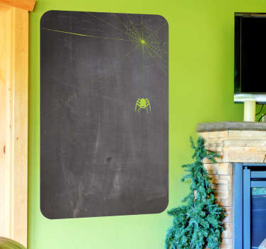 Spider Web Blackboard Sticker