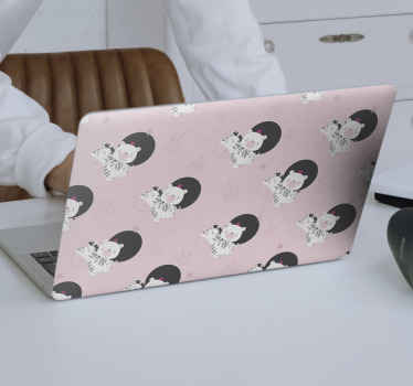 Baby Zebra and bear laptop skins to beautify a laptop. Suitable laptop design for girls and the application is super easy with the use of spatula.