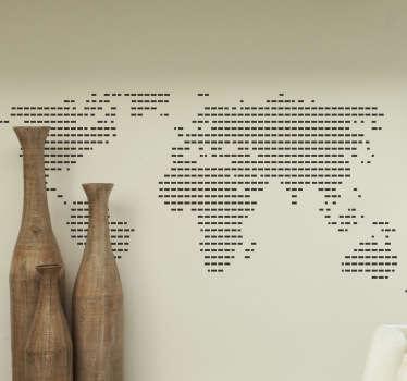 stiplede verdenskort wallsticker