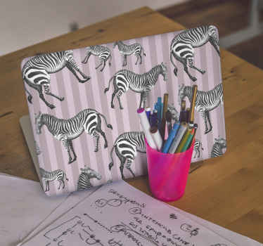 Vintage Zebra Illustration pattern  laptop skins to beautify the surface of your laptop. It is durable, self adhesive and proof to wrinkle effect.
