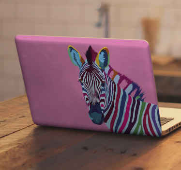 Are you a lover of zebra? if yes you would love to decorate your laptop with this amazing Zebra pop art laptop skins decal.