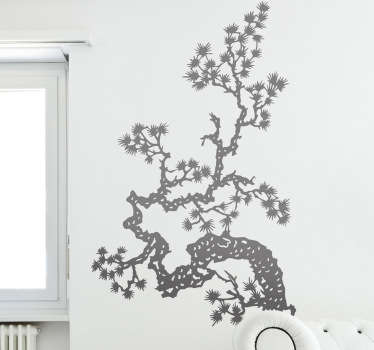 Asiatisk tre gren vegg klistremerke