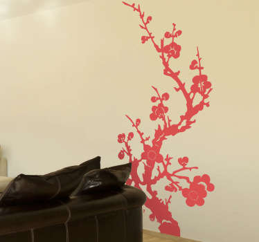 Sticker bloemen Azië boom