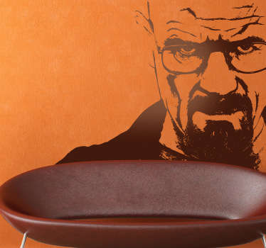 Sticker decorativo ritratto Breaking Bad