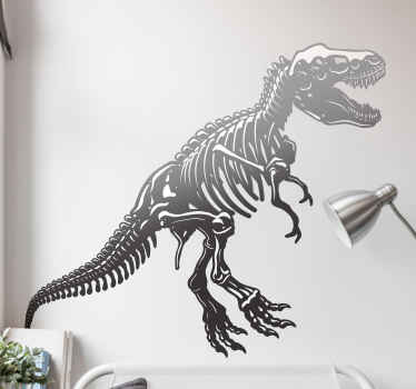 Dinosaur skeleton dinosaur wall sticker for home and any other space decoration. It is self adhesive, durable and easy to apply.