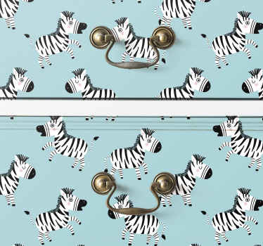 This cute Zebra for Kids furniture sticker would be nice to decorate the furniture space in children bedroom. It is easy to apply and adhesive.