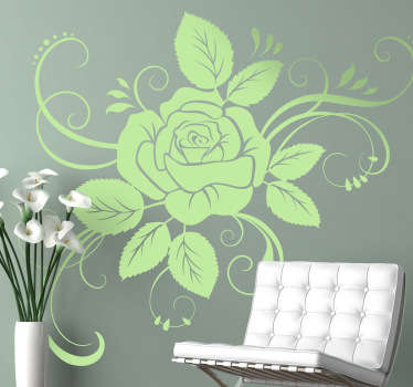 Floral Rose Illustration Decal