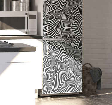 What an amazing and lovely 3D effect decorative fridge decal with patterned zebra print to wrap a fridge door. It is durable, original and adhesive.