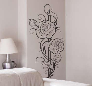Moderne rozen bloemen sticker