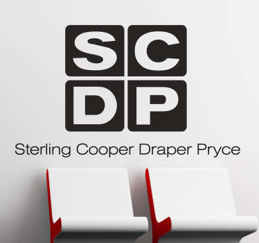 Sticker decorativo logo Sterling Cooper