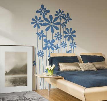 Naklejka dekoracyjna jednokolorowe kwiaty