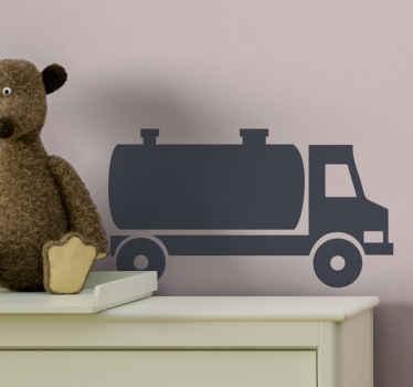 石油タンカーのイラストの子供のおもちゃのデカールのデザイン。重いおもちゃの乗り物を愛する子供たちの部屋やプレイルームを飾るのに適しています。
