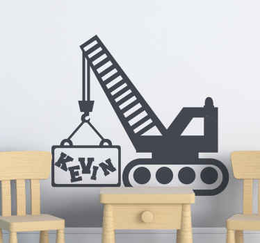 Do your kids love construction toys? if yes, then this decorative personalized name truck toy should be decorated on the room, playroom, etc.